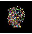 Man head vector image vector image