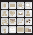 240715 Bussinessman icons set vector image