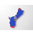 Guam country map with shadow effect presentation vector image vector image