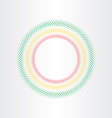 optical circle element vector image