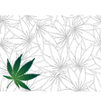 Seamless Cannabis leaf background vector image vector image