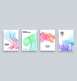 abstract cover template set modern design with vector image