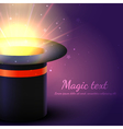 Background Magic Hat With Glow vector image