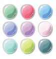 candy colored buttons with glass surface effect vector image