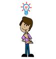 Cartoon man thinker vector image