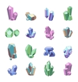 Crystal Minerals Set vector image