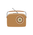 radio vintage retro old music speaker sound vector image