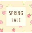 sale bannercute flowers vector image