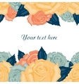 Seamless floral background with text Seamless vector image