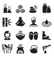 spa alternative therapy icons set vector image