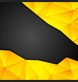 Tech geometry yellow and black background vector image