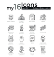 Modern thin line icons set of school education vector image vector image