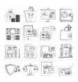 banking and financial services icons vector image