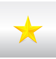yellow star for rank vector image vector image