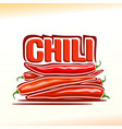 logo for chili vector image