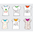 Bicycle designs for t-shirts vector image vector image