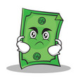 Angry face dollar character cartoon style vector image