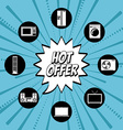 hot offer vector image