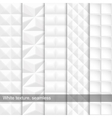Set of white seamless texture vector image