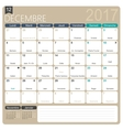 French calendar 2017 vector image