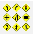 set of road signs direction of movement vector image