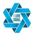Israel or Judaism logo with Magen David sign vector image