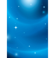 blue abstract background with stars and lights vector image