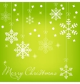 Christmas snowflake card vector image