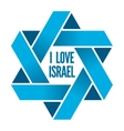 Israel or Judaism logo with Magen David sign vector image