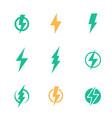 lightning bolt signs on white vector image