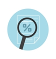Magnifying glass icon Search the document vector image