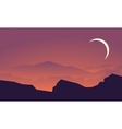 Silhouette of mountain and rock landscape vector image
