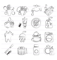 Cleaning and hygiene icons vector image vector image
