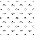Ruff fish pattern simple style vector image