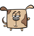 square dog cartoon vector image vector image