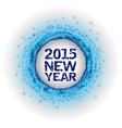 2015 fireworks blue vector image vector image