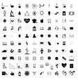 100 black education icons set vector image