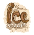 Stylized text of Chocolate ice cream vector image