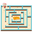 Maze template with mouse and cheese vector image
