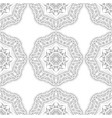 black and white silhouette of snowflakes seamless vector image