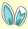 Blue bunny ears vector image