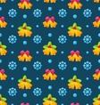 Christmas Seamless Texture with Jingle Bells and vector image