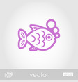fish outline icon summer vacation vector image
