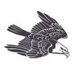 Hand drawn eagle vector image