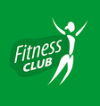 logo for fitness clubs on a green background vector image