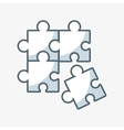 puzzle pieces game flat icon vector image
