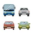 Retro Flat Car Icons Set vector image