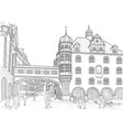 sketch of munich vector image