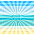 Summer rays holiday vintage on light sea vector image