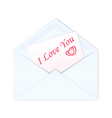 Envelope with a love card vector image vector image